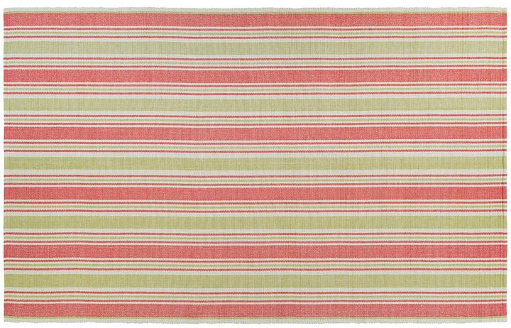 Couristan Couristan Bar Harbor Raspberry Lemonade Striped Reversible Cotton Rug