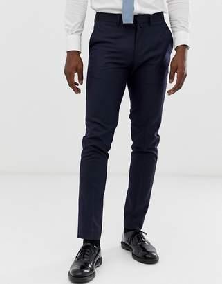 Celio slim fit suit trouser in navy