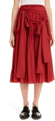 Sara Lanzi Faux Wrap Midi Skirt
