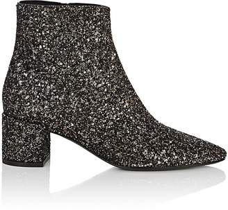 Saint Laurent Women's Loulou Glitter Ankle Boots
