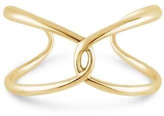 Dinny Hall Gold-Plated Twist Open Cuff Bracelet