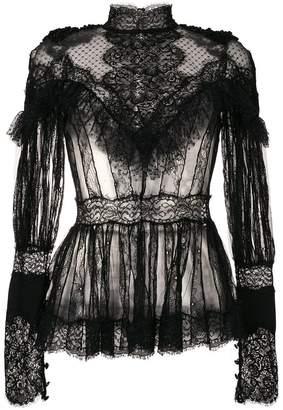 Amen sheer lace blouse