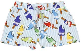 MC2 Saint Barth Ice Cream Bar Print Nylon Swim Shorts