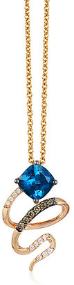 Le Vian 14ct Strawberry Gold Deep Sea Blue Topaz Pendant