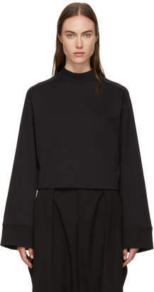 Y-3 Black High Collar Cropped Sweater
