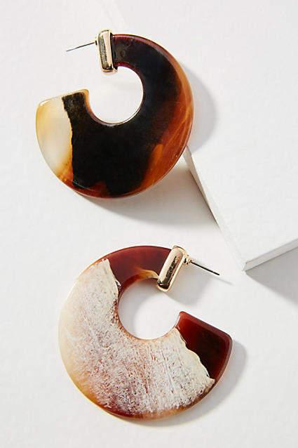 Amber Sceats Mali Resin Hoop Earrings