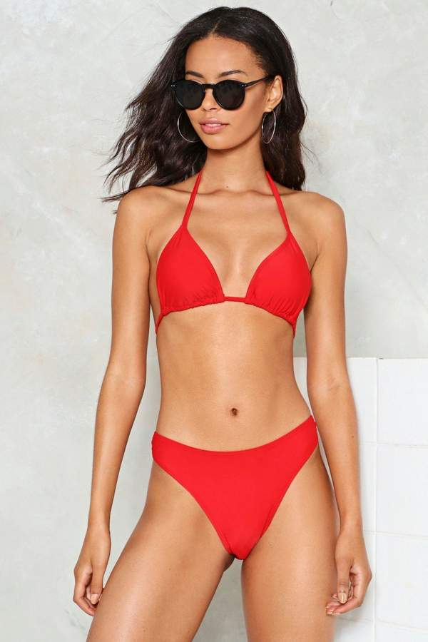 nastygal Take a Dip High-Leg Bikini Bottom