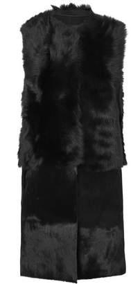 Karl Donoghue Reversible Shearling Gilet - Black