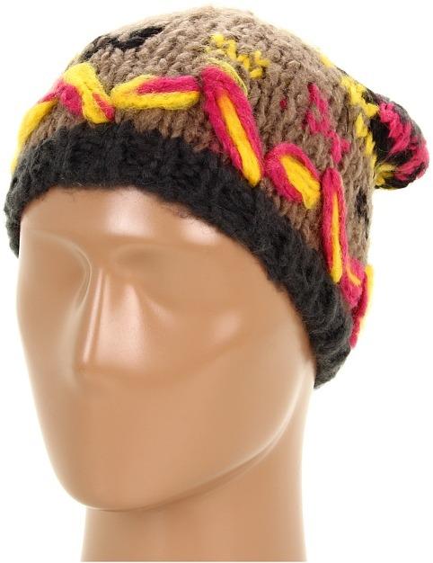 Steve Madden Navaho Nations Skull Cap (Taupe) - Hats