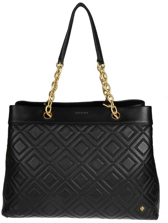 Tory Burch Fleming Triple Compartment Bag With Black Color - BLACK - STYLE