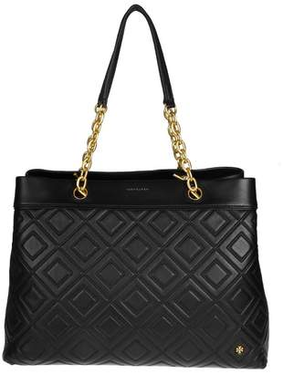 Tory Burch Fleming Triple Compartment Bag With Black Color
