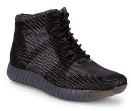 Karl Lagerfeld Mesh Hi-Top Sneakers