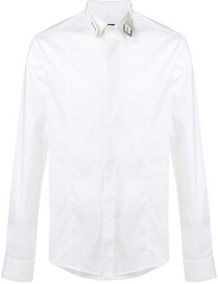 Les Hommes buckled collar shirt