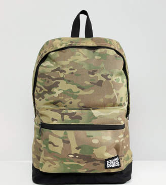 Reclaimed Vintage inspired camo backpack