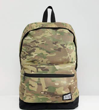 Reclaimed Vintage inspired festival camo backpack