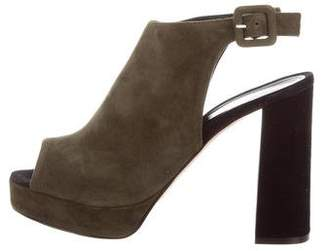 Barneys New York Barney's New York Suede Platform Sandals