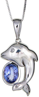 FINE JEWELRY LIMITED QUANTITIES Genuine Oval Tanzanite Sterling Silver Pendant