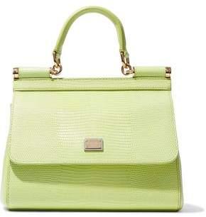 d73a7ee49385 Dolce   Gabbana Lizard-effect Leather Shoulder Bag