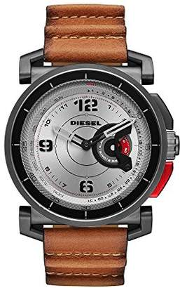 Diesel Mens ON Hybrid Smartwatch Stainless Steel Leather Band
