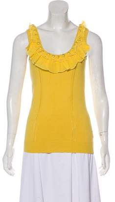 Milly Embellished Sleeveless Top