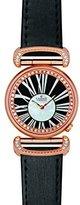 Charmex Malibu 6277 32 mmステンレススチールCase Black Calfskin Synthetic Sapphire Women 's Watch