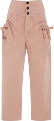 Etoile Isabel Marant Weaver Pocket Straight-Leg Trouser