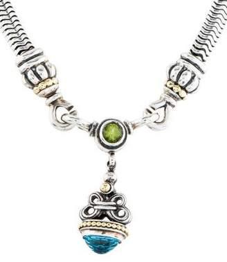 Lagos Topaz & Peridot Cavier Pendant Necklace