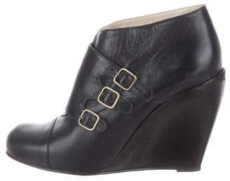 3.1 Phillip Lim Leather Wedge Booties