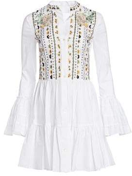 Alchemist Mounia Embroidered Bell Sleeve Dress