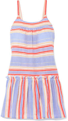 Lemlem Fiesta Ruffled Striped Cotton-blend Gauze Mini Dress - Lavender