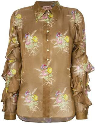 No.21 floral frill blouse