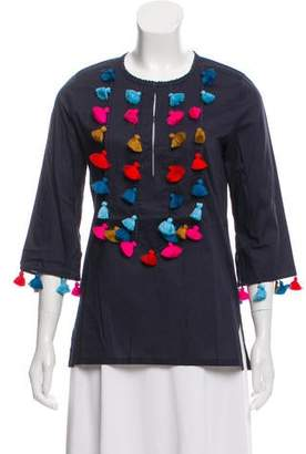 Figue Long Sleeve Embroidered Top w/ Tags