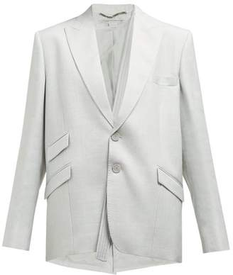 Stella McCartney Cross Body Strap Oversized Blazer Jacket - Womens - Light Grey