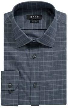 DKNY Medieval Plaid Cotton Dress Shirt