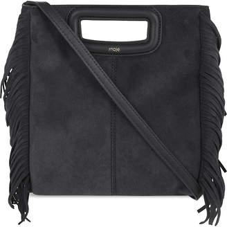 Maje M fringe leather shoulder bag