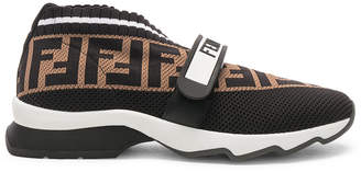 Fendi Rockoko Velcro Strap Sneakers
