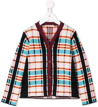 Marni plaid formal cardigan