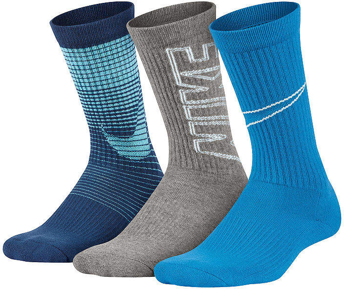 Performance 3 Pack Graphic Crew Socks - Boys