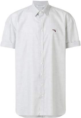Neil Barrett oversized embroidered gun shirt