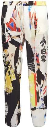 Marques Almeida MARQUES'ALMEIDA Wide-leg printed satin trousers