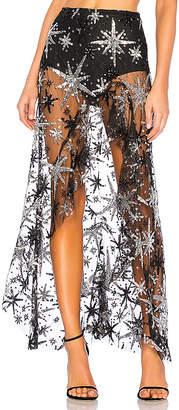 For Love & Lemons Stardust Asymmetrical Skirt