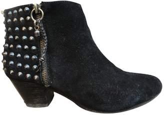 Ash Black Suede Ankle boots
