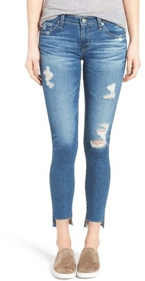 Women's Ag The Legging Step Hem Ankle Skinny Jeans $225 thestylecure.com