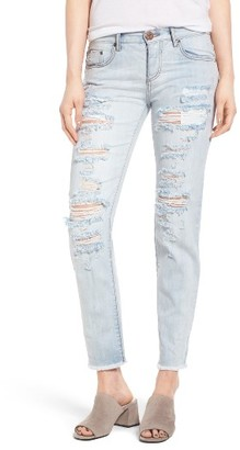 Women's One Teaspoon Awesome Baggies Ripped Crop Jeans $149 thestylecure.com