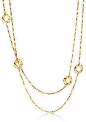 "Verdura 18k Curb-Link Chain Necklace, 36"""