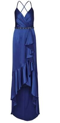 Adrianna Papell Satin High Low Dress