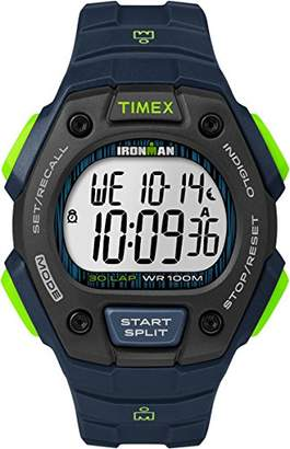 Timex Unisex Quartz Watch with LCD Dial Digital Display and Blue Resin Strap TW5M11600