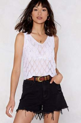 Nasty Gal Get Some Air Crochet Top