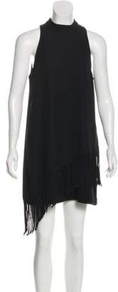 Elizabeth and James Fringe Sleeveless Mini Dress