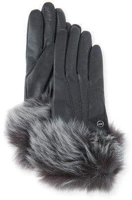 UGG Classic Heritage Toscana Gloves, Black $97 thestylecure.com